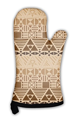 - Gear New Oven Mitt, With Geometric Patterns, GN71772