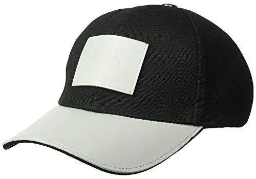 Armani Exchange Men's Logo Patch Hat, Black, One Size
