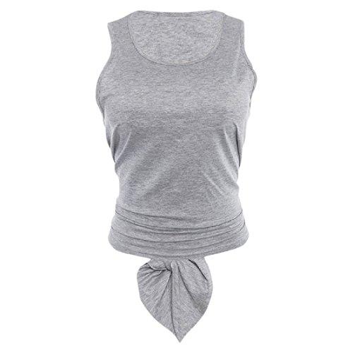 洗練された従事した個人的なAngelSpace 女性のランニング?スポーツカットアウトバック無地タンクトップシャツ