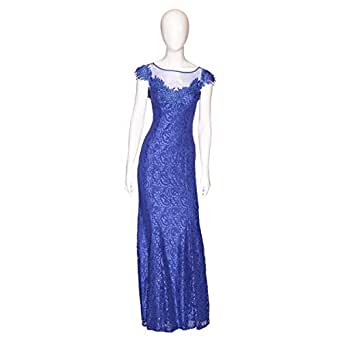 Silver Line Blue Mixed Special Occasion Dress For Women