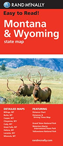 Easy To Read: Montana, Wyoming State (Rand Mcnally Easy to Read!)