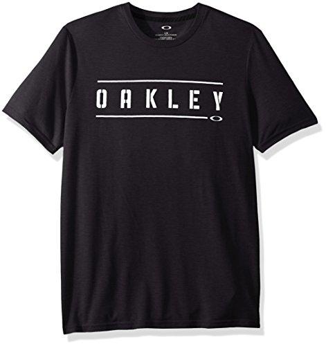 Oakley Men's O-Double Stack Tee, Blackout, ()
