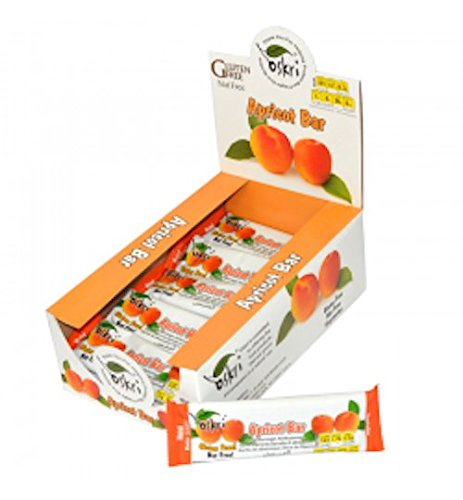 Oskri Bar, Apricot, 1.9 Ounce (Pack of 20)