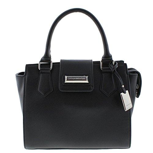 Catherine Malandrino Womens Christina Lined Satchel Handbag Black Medium Cmh15703