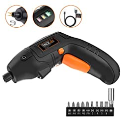 Electric Screwdriver, TACKLIFE Cordless ...