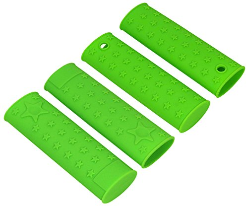 (Chefs Basics Select Silicone Pan Handle Pot Holders - Set Of 4 Green)