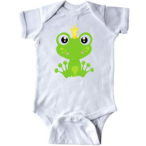Frog Prince Baby Shower - inktastic Frog Prince, Green Frog, Frog with a Infant Creeper Newborn White