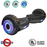 """NHT 6.5"""" Hoverboard Electric Self Balancing Scooter Sidelights - UL2272 Certified Black, Blue, Pink, Red, White (Dark)"""
