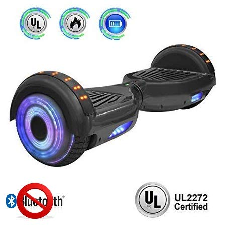 NHT 6.5' Hoverboard Electric Self Balancing Scooter Sidelights - UL2272 Certified Black, Blue, Pink,...