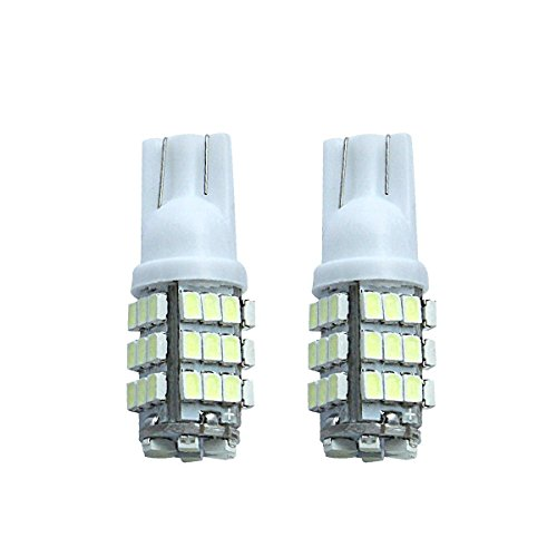 KDL Car Lights Bulb T10 42 SMD 12V White 3528 LED 194 168- (pack of 2)