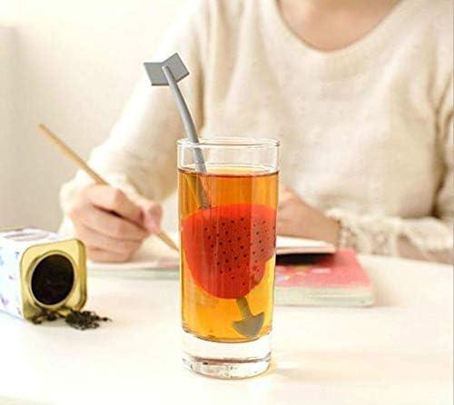 JIANGNIJP茶Sし 3個入りティーインフューザーバッグストレーナー小さじフィルターラブハート(レッド)