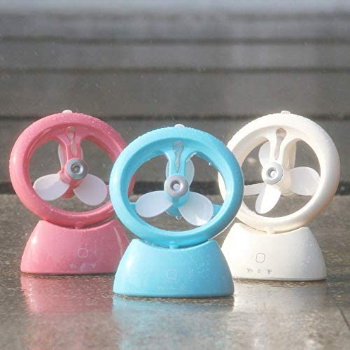 Dual Use Chargeable Mini Portable Fan Humidifier Touch Switch for Home Outdoor Travel Fan