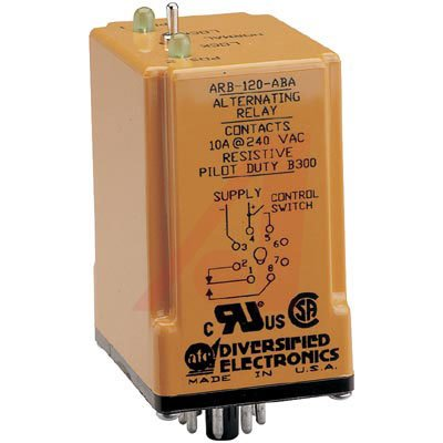 ATC ARB-120-ABA Duplexor Alternating Relay, 120 VAC, SPDT