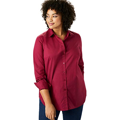 Woman Within Women's Plus Size Perfect Button Down Shirt - White, L