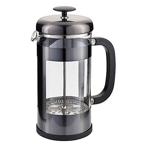 (Judge 8 Cup Glass Coffee Espresso Cafetiere Maker in Pewter 1 Litre)