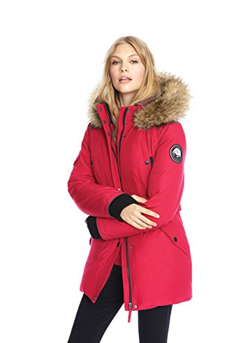 Alpinetek Women's Mid Length Parka winter camping clothes that make you stay warm with proper winter camping clothing