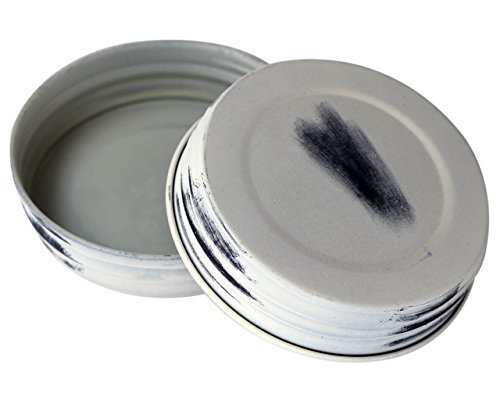Antique White Shabby Chic Mason Jar Lids (4 Pack, Wide, used for sale  Delivered anywhere in Canada