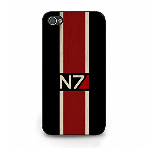 Iphone 4 4s N7 Unique Design Cover Shell Fashion Retro Stripes Design RPG Game Mass Effect N7 Logo Design Phone Case Cover for Iphone 4 4s
