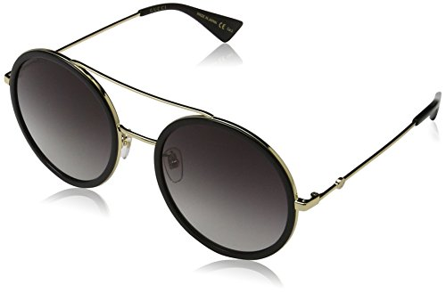 Gucci 0061S 001 Gold 0061S Round Sunglasses Lens Category 3 Size - Sunglasses Round Gucci