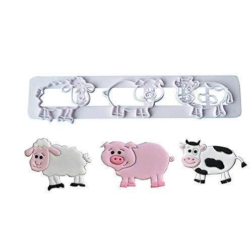 1 piece Pig Sheep Cow Shaped Plastic Cake