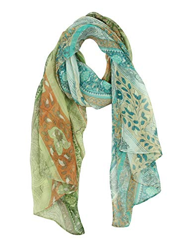 (Long Chiffon Sheer Scarf Gradient - Pantonight Shaded Colors Lightweight Scarf For Womens (NO.732))