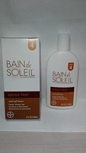 Bain De Soleil SPF#4 Mega Tan With Self Tanner 120 ml by Bain De Soleil