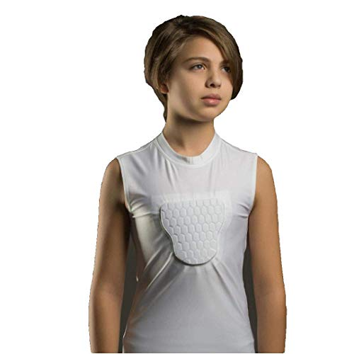 (Baseball Protect Youth Baseball Chest Guard T-Shirt: PROBAY Padded Compression Shirt with Heart Guard/Sternum Protector for Impact Protection - Protective Shirts for Baseball, Softball and More)