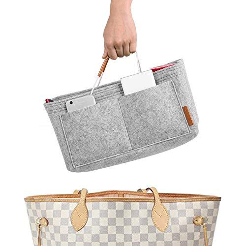 - FOREGOER Felt Purse Insert Handbag Organizer Bag in Bag Organizer with Handles - Medium Size