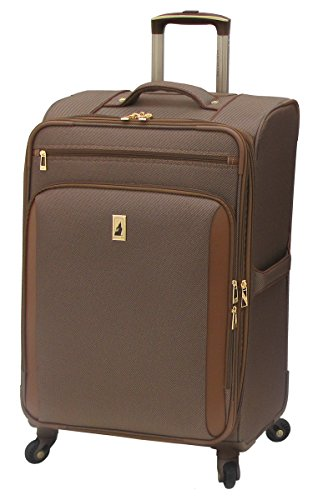 London Fog Kensington 25 Inch Expandable Spinner, Bronze