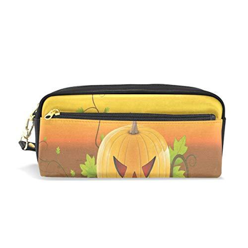 Pencil Case/Makeup Bags Hallowen Pumpkin Big Capacity Portable Pencil Bag for College Students/Women/Adults -