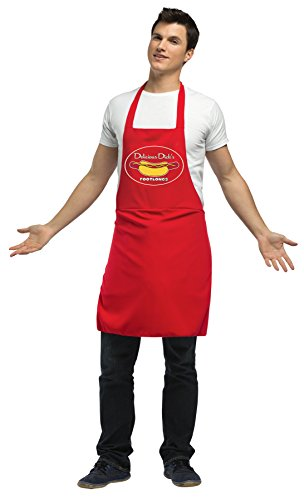 UHC Men's Dirty Hot Dog Vendor Apron Funny Theme Halloween Fancy Costume, OS