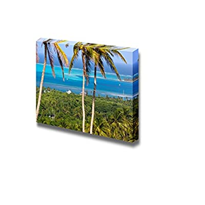 Beautiful Landscape Scenery Panoramic View of San Andres Island Colombia - Canvas Art Wall Art - 24