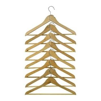 2 x IKEA Bumerang de curvado color natural de madera ropa ...