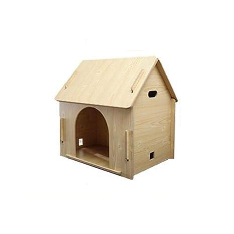 BTPDIAN Casa de Perro Perrera Interior casa de Perro de Madera ...