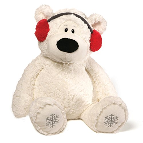 GUND Blizzard Teddy Bear Holiday Stuffed Animal Plush, White, - Teddy Snowflake Bear