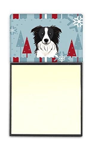 Caroline's Treasures Winter Holiday Border Collie Sticky Note Holder, Multicolor (BB1737SN)