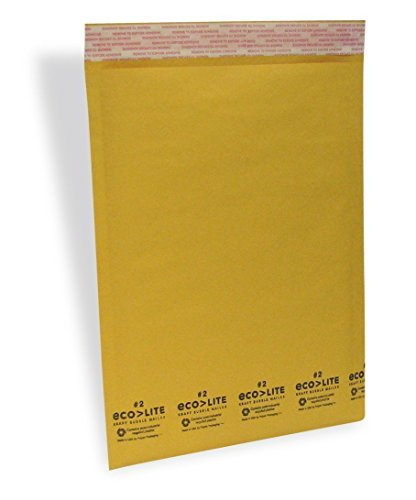 Ecolite #2 8.5x12 Kraft Bubble Mailers Padded Envelopes, Pack of 100