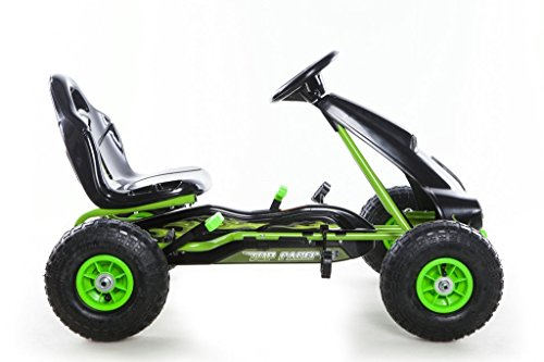 RideonToys4u Pedal Go Kart With Rubber Air Wheels & Gear Brake Lever Green by Rideontoys4u (Image #1)
