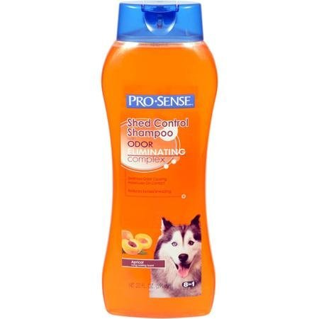 4 Pack Pro-Sense Shed Control Apricot Scent Dog Shampoo with Odor-Eliminating Complex, 20 oz totaling 80oz by Unknown
