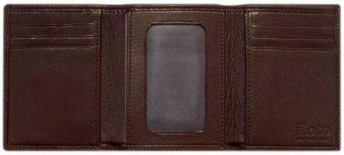 Floto Tri-fold Wallet in Brown - leather wallet, billfold by Floto