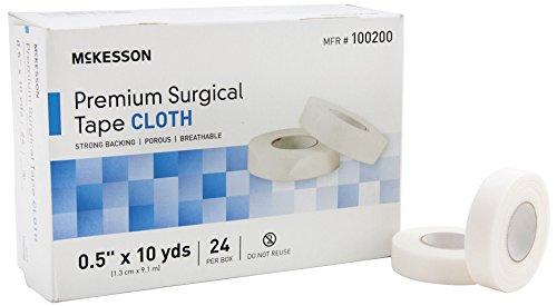 (McKesson 100200 Premium Surgical Tape, Cloth, 1/2
