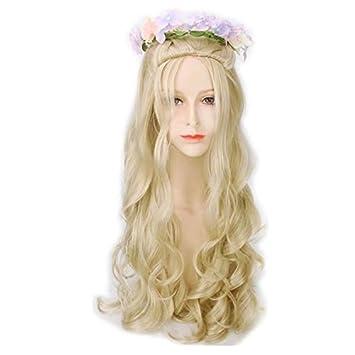 Amazon Cosplaza Layered Cosplay Wig Heat Resistant Long Curly