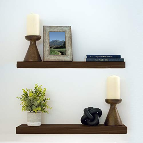- Floating Shelves Wood Floating Shelves Set - New England Handcrafted Rustic Pine Kitchen Office Bedroom Wall Mounted Smooth Finish Organizers 2 Pack (2 x 5.5 x 24