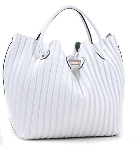 K66013l MyLux® X-Large Women Girl Fashion Shoulder Bag (61562WHITE)