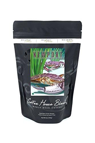 Newport, Oregon - Dungeness Crab (8oz Whole Bean Small Batch Artisan Coffee - Bold & Strong Medium Dark Roast w/Artwork)