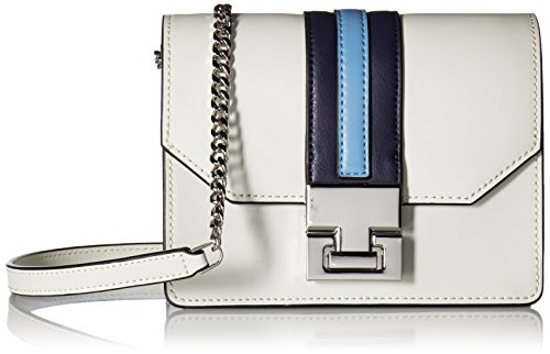Ivanka Trump Hopewell Mini Chain Crossbody, Dove/Racing Stripe