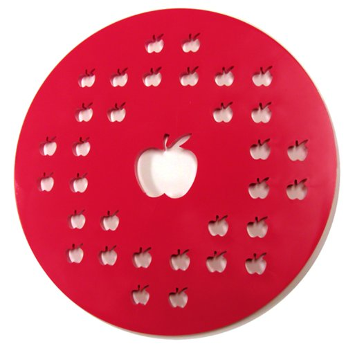 (Norpro 3259 Apple Pie Top Cutter, 10-Inch, Red)