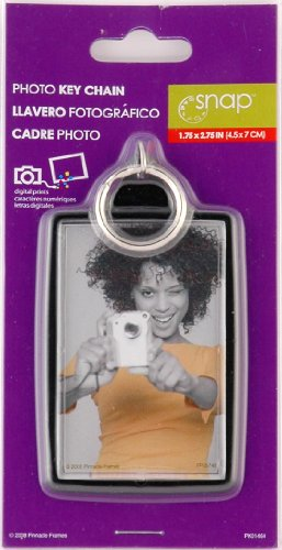 Snap 1.75-inch-by-2.75-inch Black Photo Key Ring