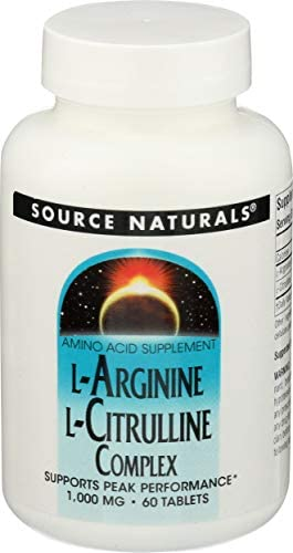 Source Naturals, L Arginine L Citrulline Complex, 60 Tablets