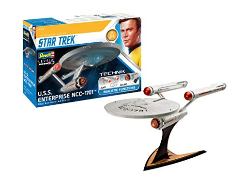 Star Trek Level 5 Model Kit with Sound & Light Up 1/600 USS Enterprise ()